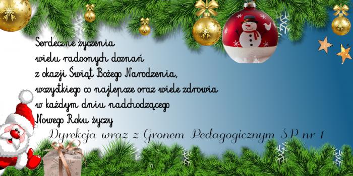 Życzenie świąteczno-noworoczne